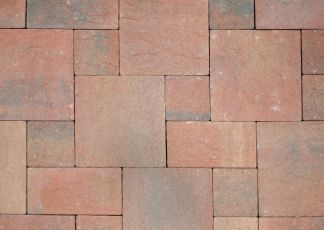 intricately laid bricks in different sizes at Toowoomba Pavers